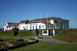 Photgraph of Castlerock Golf Club clubhouse in Ireland