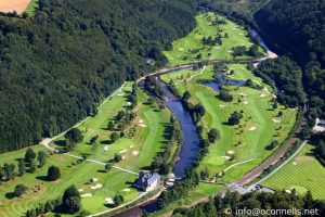 Arial photo of woddenbridge golf club in Ireland