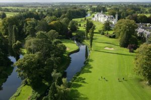 Ariel photo of the 16th hole at the K Club in Ireland (Golf)